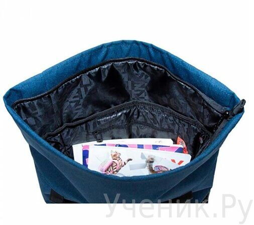 Рюкзак молодежный Grizzly RU-814-1 Сине-бирюзовый-3