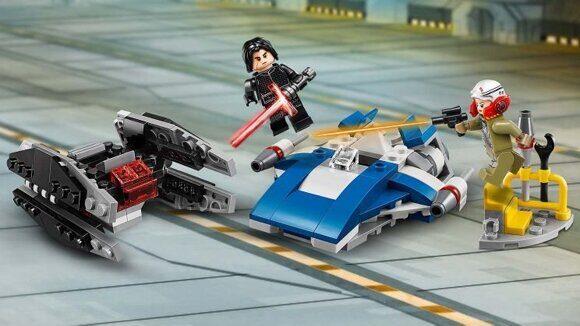 Конструктор LEGO Star Wars Набор Звездные Войны Истребитель A против бесшумного истребителя 75196-7