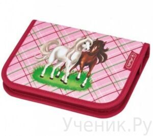 Пенал школьный Herlitz Girls Mix HORSE (19 предметов)
