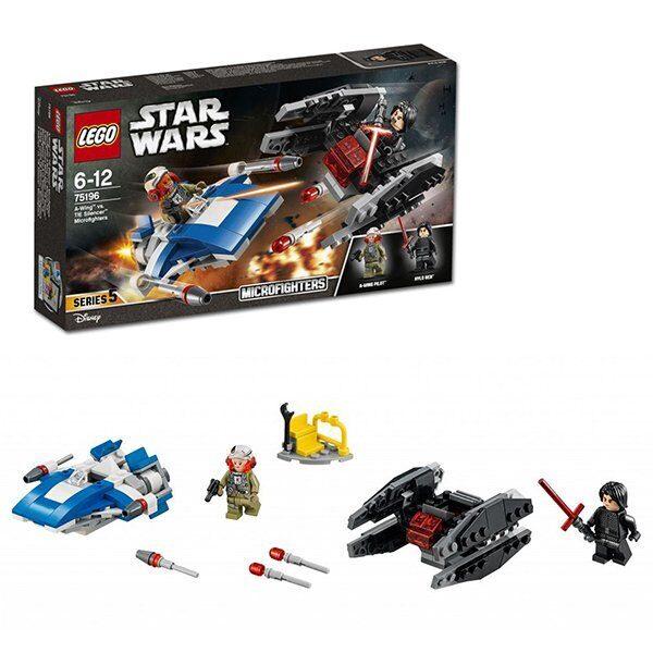 Конструктор LEGO Star Wars Набор Звездные Войны Истребитель A против бесшумного истребителя 75196