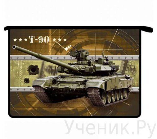Папка для тетрадей А4 на молнии Оникс ПТ- 815 Боевой танк