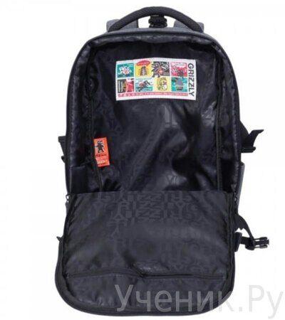 Рюкзак молодежный Grizzly RQ-914-1-2 серый-4