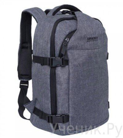 Рюкзак молодежный Grizzly RQ-914-1-2 серый-1 — копия