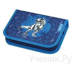 Пенал школьный Herlitz Boys Mix BLUE DINO (19 предметов)