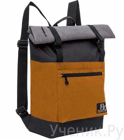 Рюкзак молодежный Grizzly RU-814-1 Черный-оранжевый-1