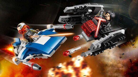 Конструктор LEGO Star Wars Набор Звездные Войны Истребитель A против бесшумного истребителя 75196-6
